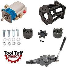 "ToolTuff Log Splitter Build Kit: 11 GPM Pump, Mount, A7 Auto Return Valve, Bolts, Coupler (For 3/4"" Engine Crankshaft)"