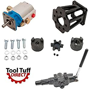 "ToolTuff Log Splitter Build Kit: 11 GPM Pump, Mount, A7 Auto Return Valve, Bolts, Coupler (For 3/4"" Engine Crankshaft)"