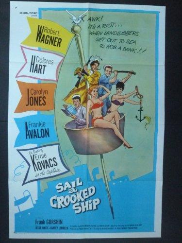 Sail A Crooked Ship Movie Poster 1961/ Robert Wagner, Dolores Hart, Carolyn Jones