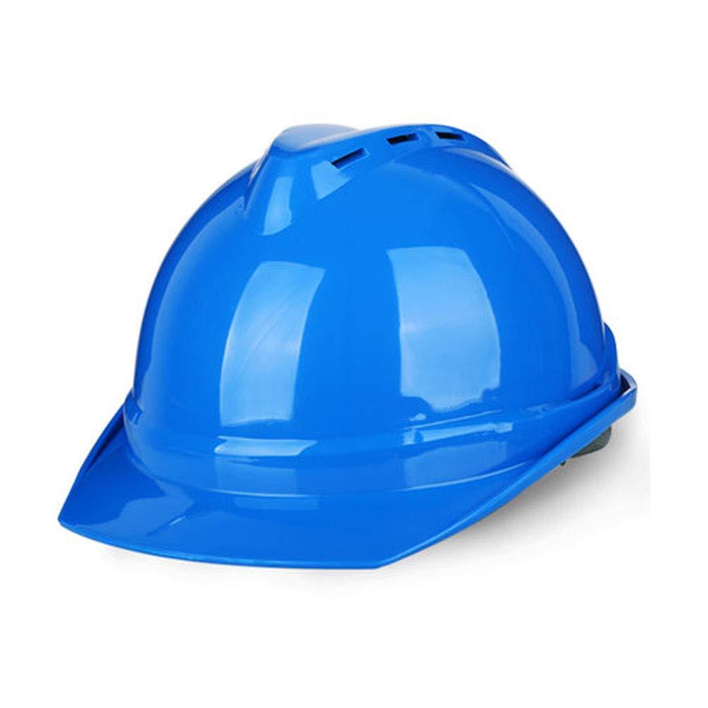 WYNZYTK Casco De Seguridad, Casco De Escalada Industrial Casco De Construcción Casco De Seguridad De Construcción Transpirable, Opcional (Color : Azul)