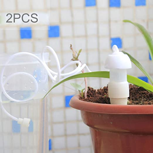 Sevenplusone Serie de riego de Jardines Alta Quanlity 2 PCS Jardinería Máquina de riego automático Sistema de riego por Goteo Flores Dispositivo de riego en Maceta For Jardín: Amazon.es: Hogar
