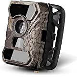 Trail Camera -Ancheer 110° Wide PIR Angle 12MP 1080P 30fps 0.4s Trigger Time No Glow Wildlife Game Camera with 56pcs IR LEDs and Infrared Night Vision and Time Lapse
