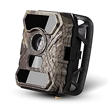 Image of ANCHEER Trail Camera 110° Wide PIR Angle 12MP 1080P 30fps 0.4s Trigger Time No Glow Wildlife Game Camera with 56pcs IR LEDs and Infrared Night Vision and Time Lapse Game & Trail Cameras