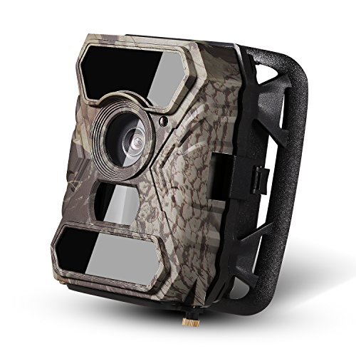 [ Xmas Gift ] Trail Camera -Ancheer 110° Wide PIR Angle 12MP 1080P 30fps 0.4s Trigger Time No Glow Wildlife Game Camera with 56pcs IR LEDs and Infrared Night Vision and Time Lapse