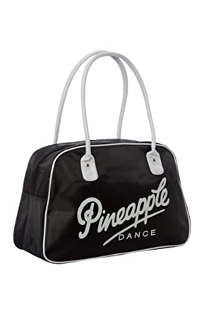 PINEAPPLE DANCEWEAR Retro Kit Dance Gym Bag Black With White Pineapple Logo