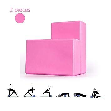 KuaiKeJiaSport Bloque de Yoga 2 Piezas,Antideslizante ...