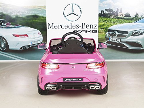 Mercedes benz s63 kids 12v electric power wheels rc ride for Kids mercedes benz power wheel