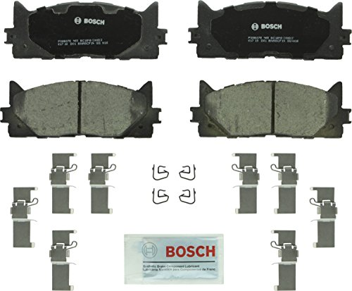 (Bosch BC1293 QuietCast Premium Ceramic Disc Brake Pad Set For: Lexus ES300h, ES350; Toyota Avalon, Camry, Front)
