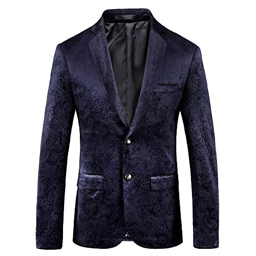 Fit Sposa Blau Mode Slim Blazer Classico Tuxedo Prom Suit Bolawoo Print Giacche Da Party Di Uomo Marca Tg0qfwx