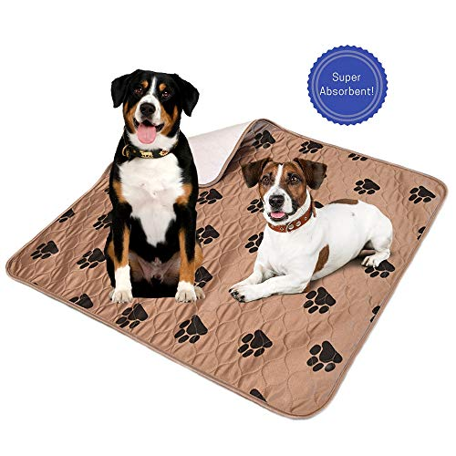 Reusable Washable Puppy Pee Pads. Waterproof Incontinence Pad. Eco-Friendly Housebreaking & Whelping Dog Pads. 2-Pack Large (32x36). Great for Travel, Crates, Training.