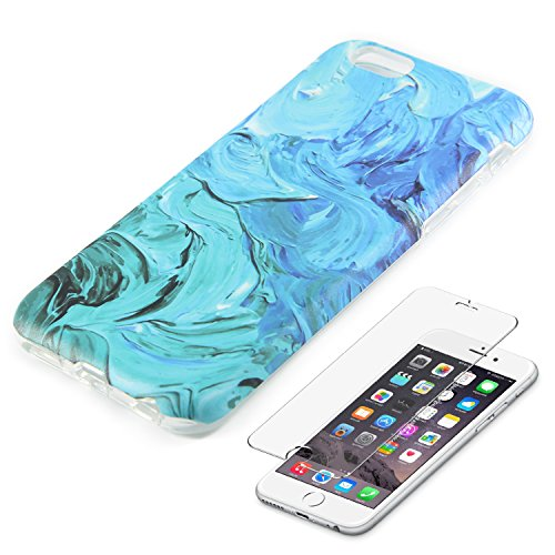 Watercolor Turquoise Protective Tempered Protector product image