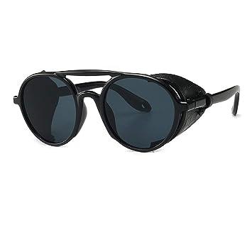 Amazon.com: BuBuBu-Fu Steampunk - Gafas de sol redondas de ...