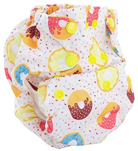 Smart Bottoms Dream Diaper 2.0 All-In-One OS Diaper (Sprinkles) (Fiber Fiber Sprinkle 35)