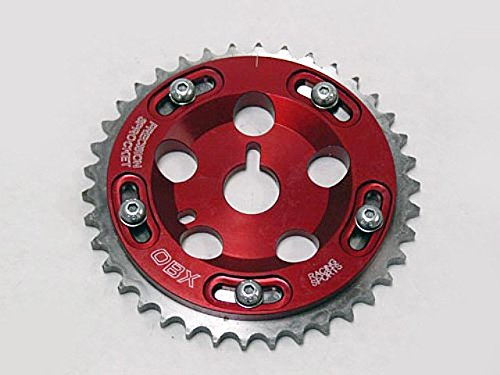 OBX Adjustable Cam Gear Sprocket 91-99 Saturn All S-Series 1.9L DOHC Red 1Pc