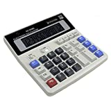 AOLVO Large Computer Keys Calculator 12 Digit Business Calculator for Office and Home,Standard Function Desktop Calculator with Dual Power