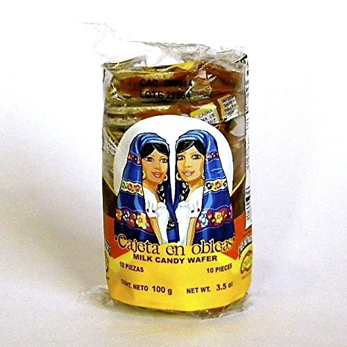Amazon.com: Cabadas Mini Obleas with Cajeta - 20 Pieces of Wafers with Goats Milk Candy