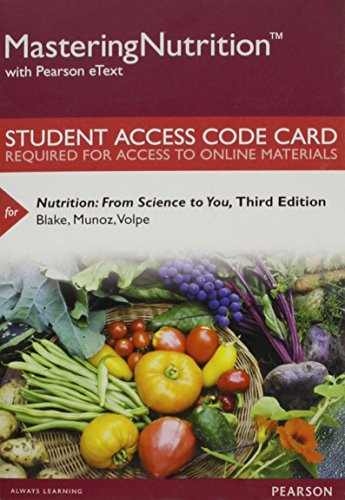 Professional dietetics the best amazon price in savemoney mastering nutrition with mydietanalysis with pearson etext standalone access card for nutrition from fandeluxe Images
