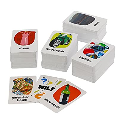 Outset Media - Pickles to Penguins Family Card Game - Quick Thinking, Crazy Picture Connection, Matching Game (Ages 8+): Toys & Games