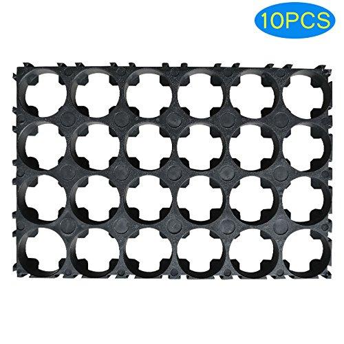 Lznlink 5/10 Pcs 4x6 Cell Spacer 18650 Li-ion Battery Holder Bracket Plastic Radiating Shell Rack Cylindrical Batteries Fixture