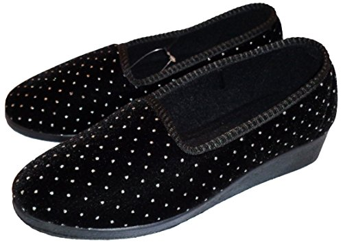 Mirak da donna Slip On Pantofole Stile Shelly colore: nero
