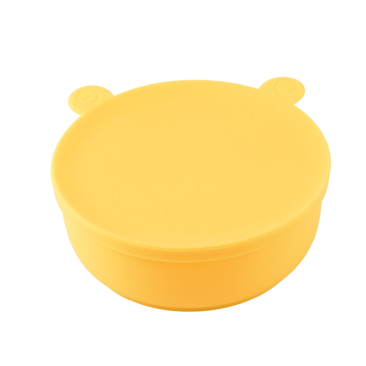HOYATO Cute Silicone Baby Toddlers Food Feeding Meal Bowls/Mat with Lid Yellow Set of 1 for Kids Children Kitchen Dining Table BPA Free Dishwasher Safe by HOYATO