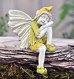 "Fiddlehead Fairy Village Sleeping Boy Fairy ""Pix"" with Bonus Novelty Fairies Bill and 3″ Round Decal"