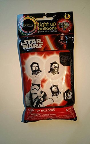 illooms Star Wars Light Up Balloons 5 Pack Stormtrooper Snowtrooper, Flametrooper