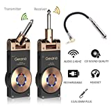 Getaria Wireless Guitar System Rechargeable Digital Transmitter Receiver Set for Electric Guitar Bass