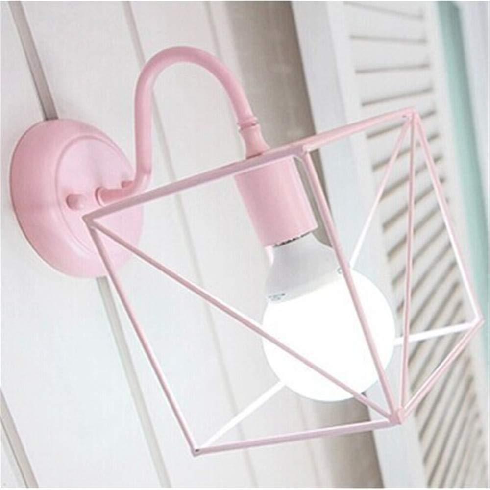 ACCEY Kreative Wohnzimmer Wandlampe moderne minimalistische Schlafzimmer Nachttischlampe Wandlampe Warmgang Lichter Balkon Treppe Lichter, Rosa