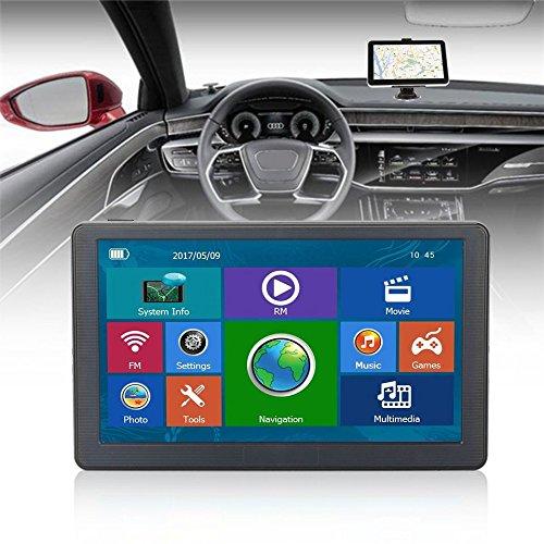 Wide Angle Sunshade - Baynne 7inch Car Truck GPS Navigation Bluetooth Reversing View Camera Sunshade(Color Black)