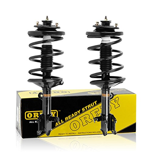 (OREDY Front Driver and Passenger Side Complete Struts Assembly Coil Spring Assembly Kit Shock Absorber 171598 171597 SR4072 SR4071 Compatible with Honda Odyssey 1999 2000 2001 2002 2003 2004)