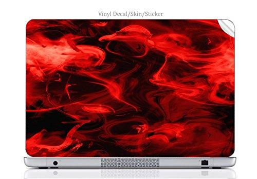 Laptop VINYL DECAL Sticker Skin Print Red Smoke fits Chromebook 550