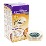 Bundle – 2 Items : Bone Strength Take Care By New Chapter- 180 Slim Tablets and 1 VDC Pill Box