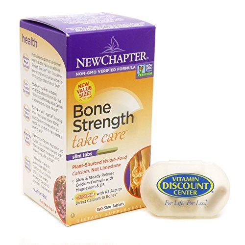 Bundle – 2 Items : Bone Strength Take Care By New Chapter- 180 Slim Tablets and 1 VDC Pill Box For Sale