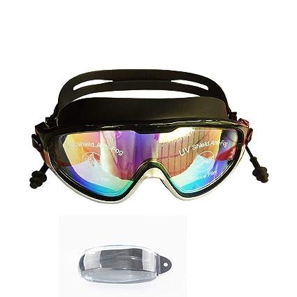 4755b74d86 Amazon.com   Feelpower Large Frame Waterproof Swimming Goggles ...