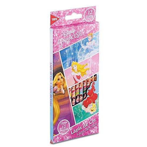 Lápis Cor Tris Princesas c/ 12 Cores