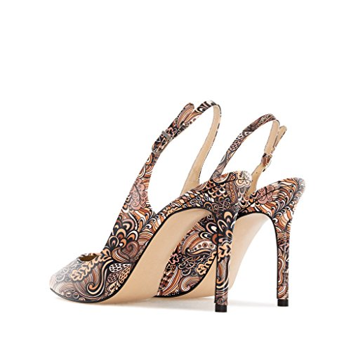 correa Mujer Zapatos EDEFS tobillo con Mix Brown de 8BEWpq