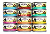 Merrick Whole Earth Farms Grain Free Wet Cat Food Variety Pack - 6 Flavors - 2.75 oz. Each (12 Total Cans) Real Salmon, Turkey, Duck, Beef, Tuna & Whitefish, and Chicken Recipe Larger Image
