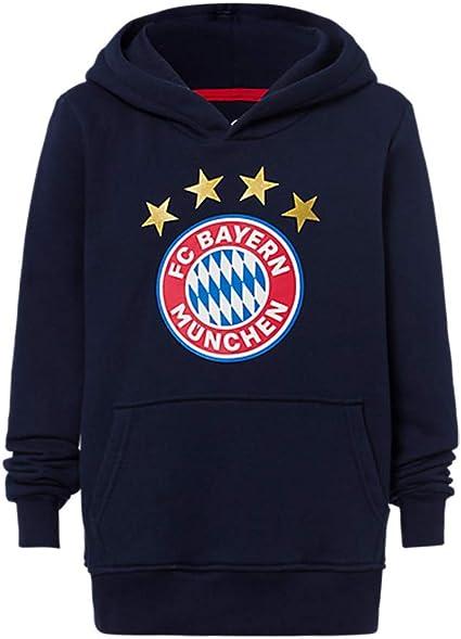 FC Bayern München à Capuche Logo Enfants Bleu Marine