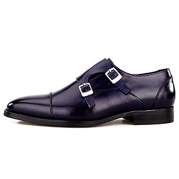 SHANGWU Zapatos De Cuero Genuino De Los Hombres Zapatos De Cuero Auténticos  Americana Zapatos De La 034b1ed1599a6