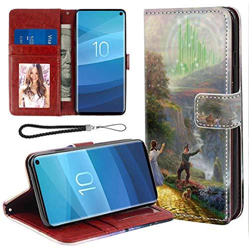 (DISNEY COLLECTION Wallet Case Compatible with Galaxy S10 6.1 Version Disney Thomas Kinkade Wizard of Oz Tkoz Good Looking)