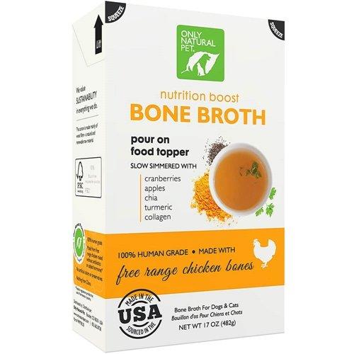 Only Natural Pet Free Range Chicken Bone Broth 17 oz