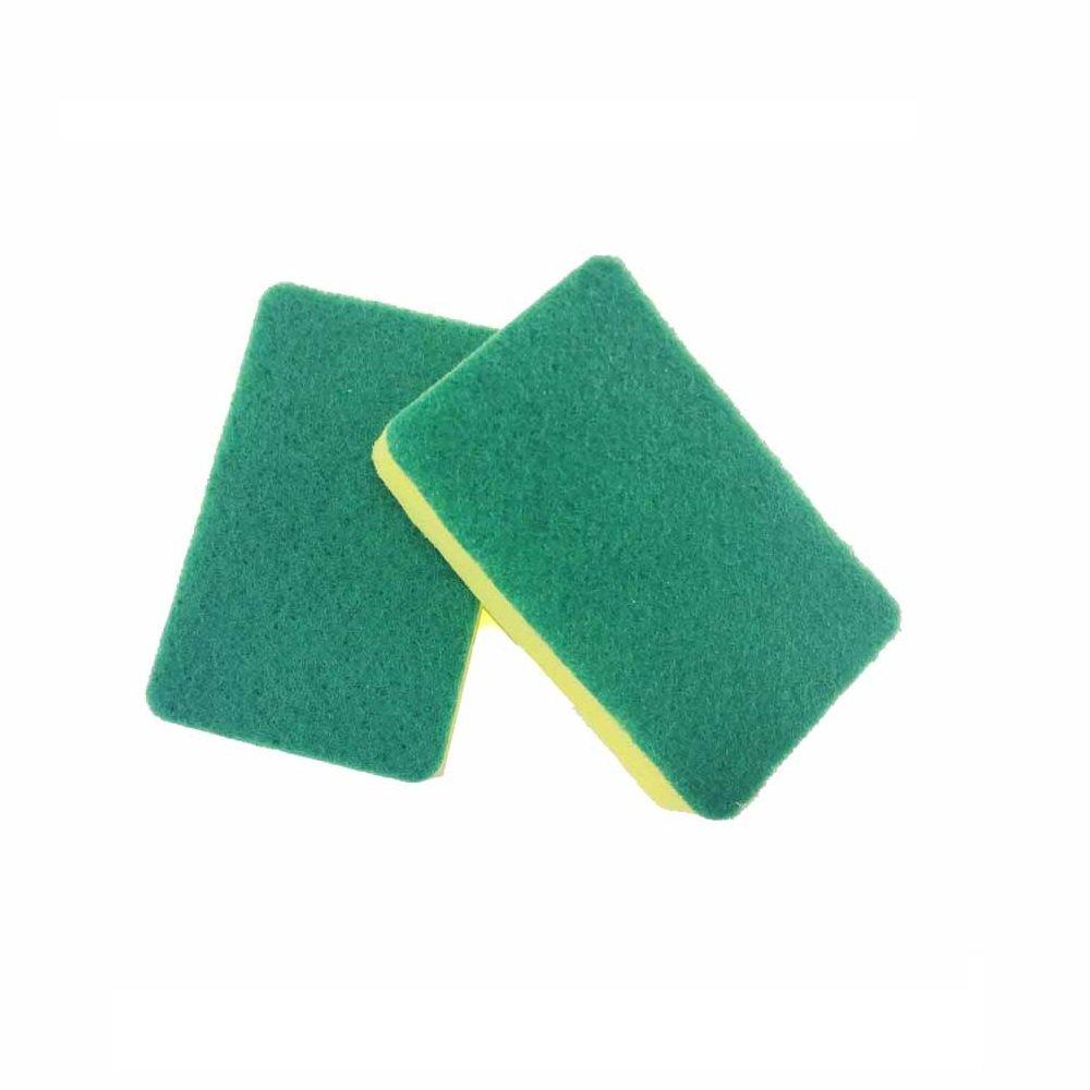 Kitchen Sponge Scouring Pads - Lasting Kitchen Sponge Scrubber - Dish washing Sponges,2 Packs