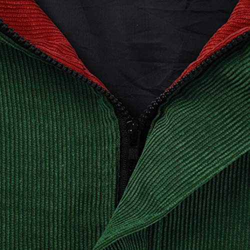 Oversize Hoodie Patchwork XOWRTE Red Windbreaker Cardigan Sleeve Coat Corduroy Jacket Overcoat Long Women Drawstring qWpqEfY0r