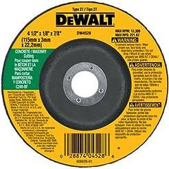 DEWALT DW4528 4-1/2-Inch by 1/8-Inch by ...