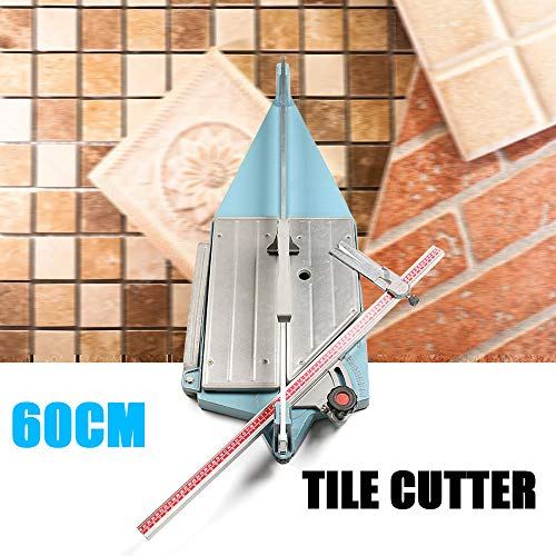 Tile Cutter Tool, Ceramic Cutting Machine, Desktop Manual Pull Handle Cutting Length 60cm, Ceramic Floor Tiles Tile Cutter Machine, 0~45°Adjustable Angle for Precision Cutting ()