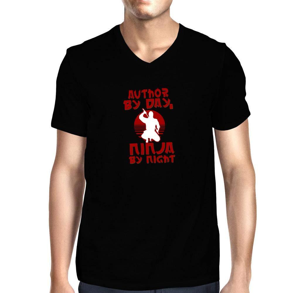 Idakoos Author By Day Ninja By Night T Shirt