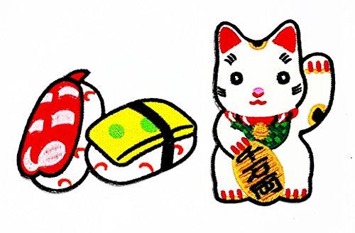 Sushi Cat 2 All Costumes - PP Patch Set 2 Cute Sushi Japanese Food Japanese Maneki-Neko Japan Japanese