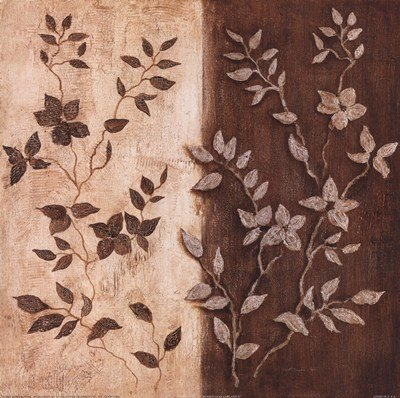 Russet Leaf Garland II by Janet Tava - 12x12 Inches - Art Print Poster