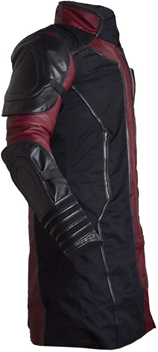 Stormwise Mens Avengers Ultr0n Fashion Hawkeye Faux Leather Coat